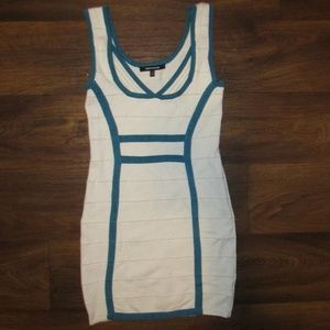 WOW Couture Dress White Blue Size Small